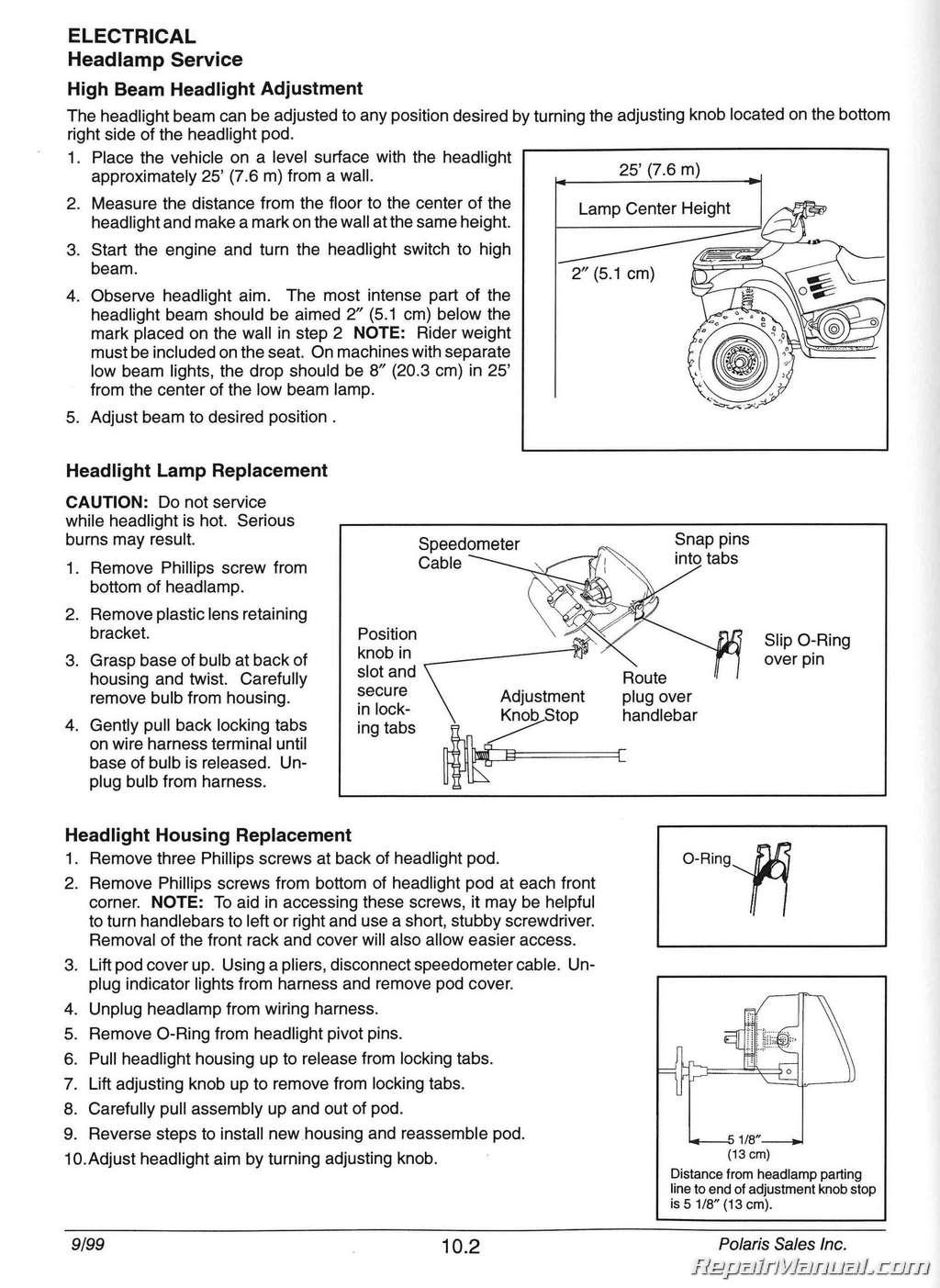 polaris hud instruction manual