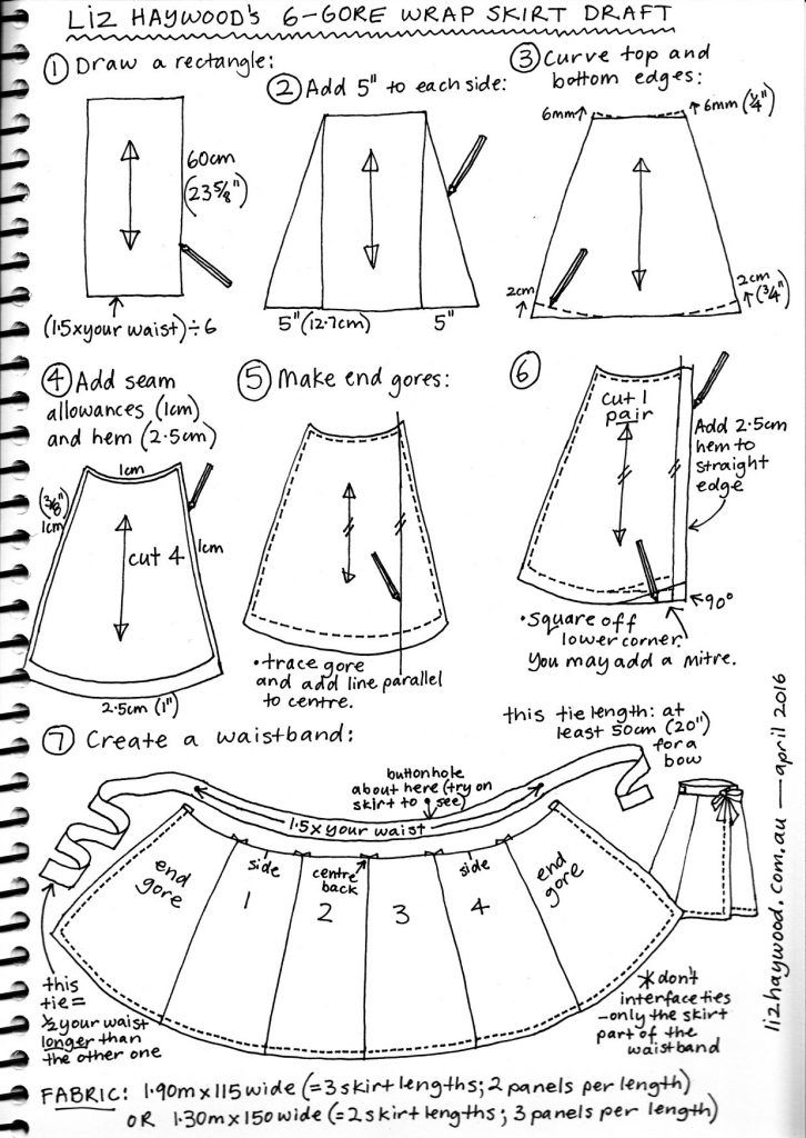 reversible wrap skirt instructions