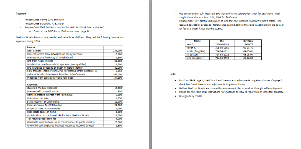 capital gains tax schedule instructions