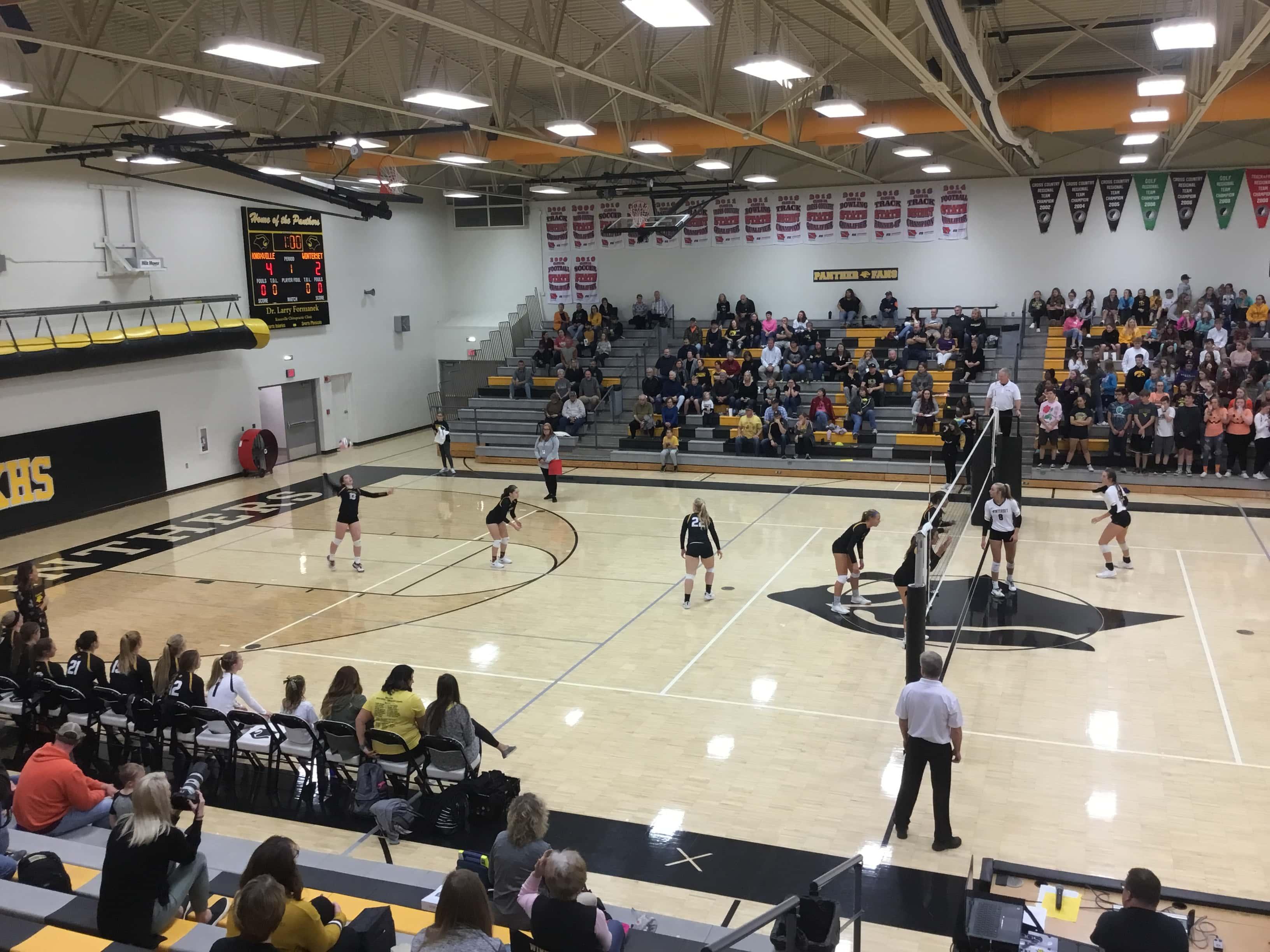 volleyball net setup instructions