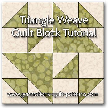 folded corners quilt block instructions