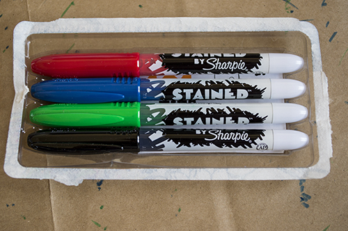 sharpie stained fabric markers instructions