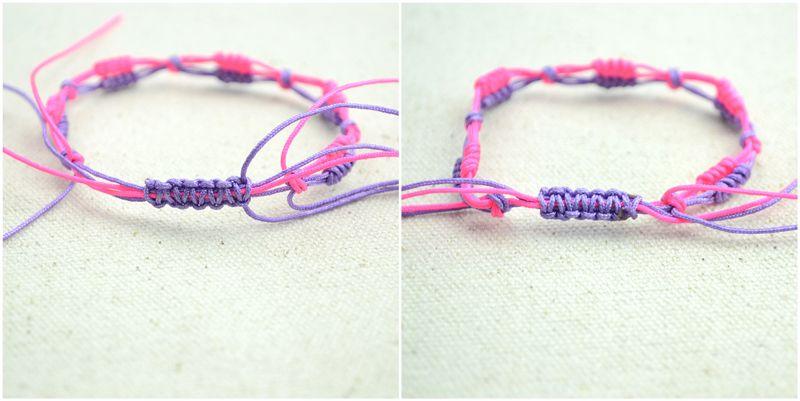 adjustable macrame bracelet instructions