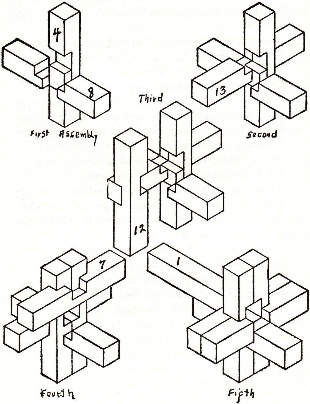 6 piece burr puzzle instructions