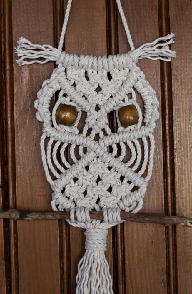 macrame owl wall hanging instructions