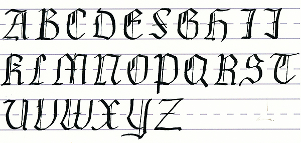 calligraphy fonts how to instructions