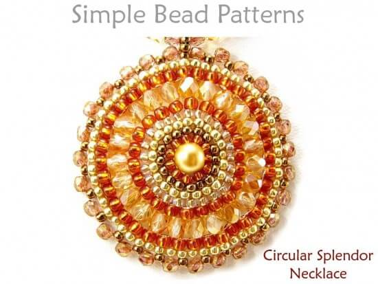 circular right angle weave instructions