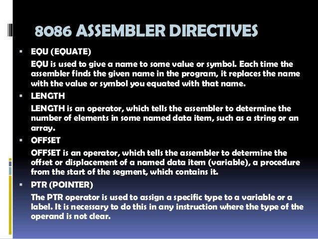 8086 microprocessor instruction set