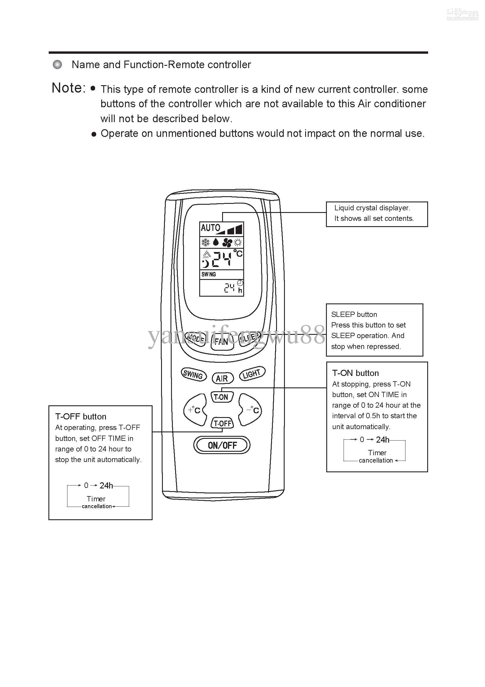 lg aircon remote instructions