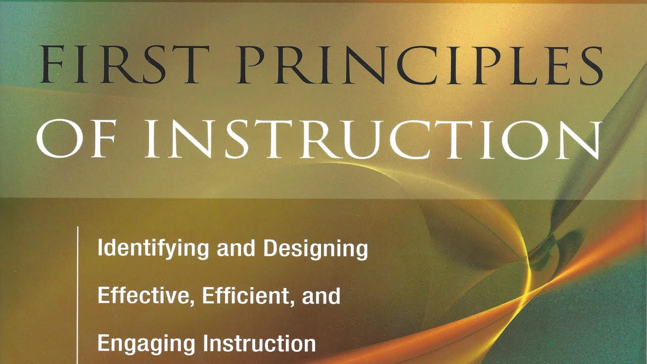 david merrill first principles of instruction