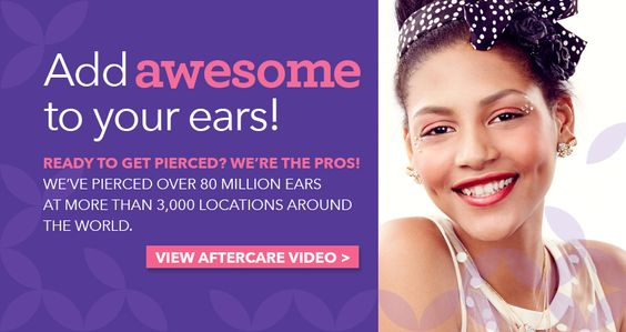 ear piercing care instructions