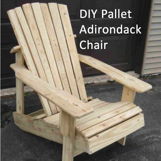 how to make a pallet chair instructions