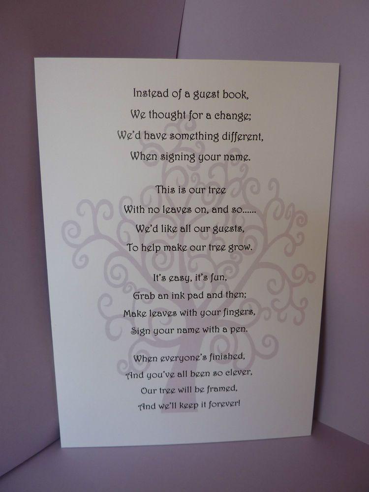 fingerprint tree instructions poem