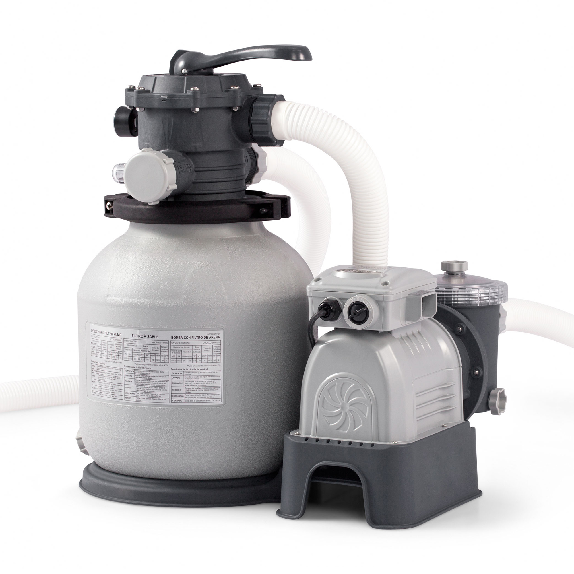 intex pool sand filter pump instructions