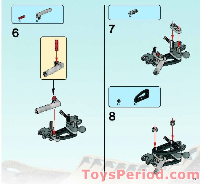 lego bionicle combination instructions