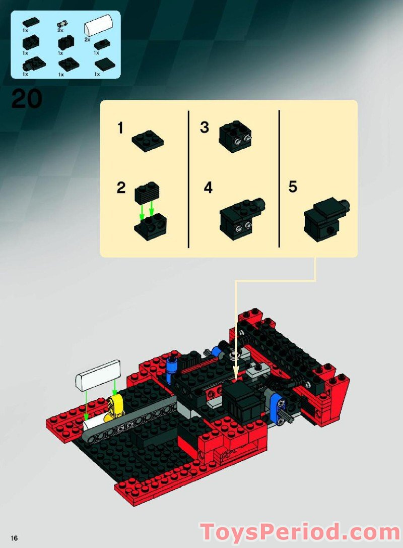 lego ferrari fxx k instructions