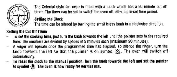 neff oven clock instructions