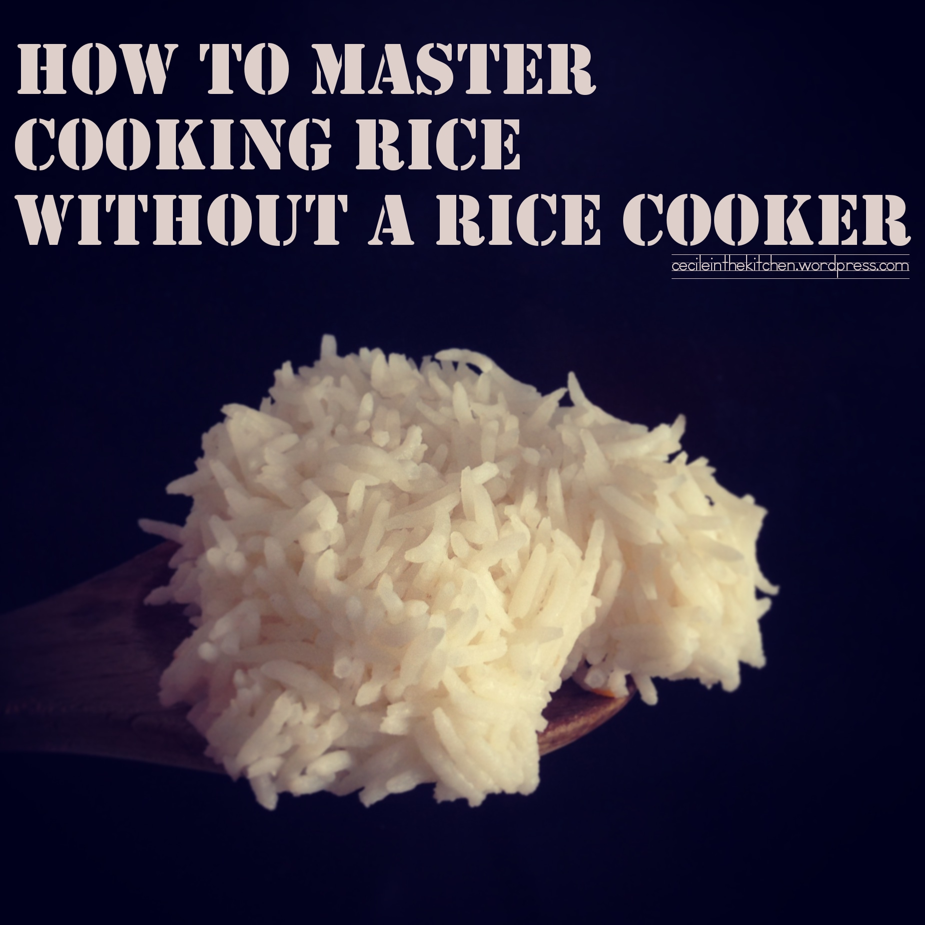perfect cooker rice instructions