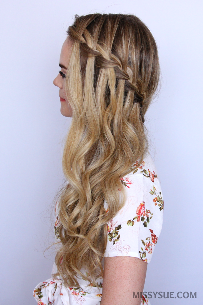 waterfall braid with curls instructions